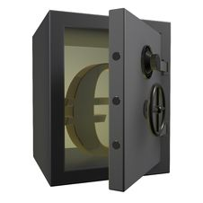 Free 3d Opened Safe With Gold Euro Stock Photo - 19641570