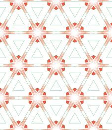 Free Red Green White Triangle Pattern Royalty Free Stock Photo - 19641675