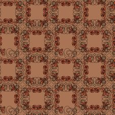 Free Brown Tangle Flower Background Stock Photography - 19642012