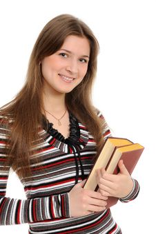 Free Student Girl With Books Royalty Free Stock Images - 19642019