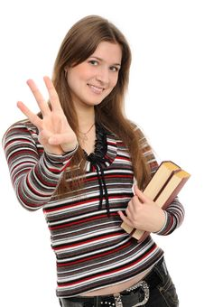 Free Girl Pointing At You With Both Hands Stock Photography - 19642052