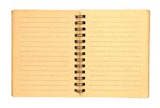 Free Brown Notebook With Line 2 Page Stock Photography - 19642862