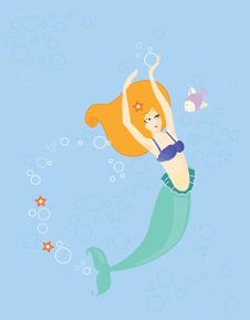Free Young Mermaid Stock Images - 19643014