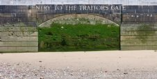Free Entry To The Traitors Gate. Stock Photo - 19643410