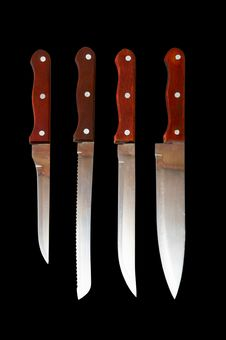 Free Kitchen Knives Royalty Free Stock Photos - 19643498