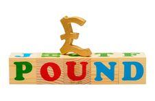 Free Pound Wooden Blocks Stock Images - 19643514
