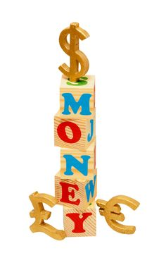 Free Money Wooden Blocks Stock Image - 19643531