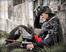 Free Paintball Player Royalty Free Stock Image - 19643646