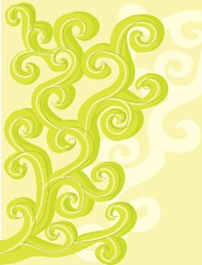 Free Abstract Floral Curls For Your Design. Royalty Free Stock Image - 19643816