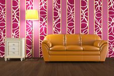 High Resolution 3D Render Interior Royalty Free Stock Photo