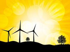 Wind Turbine Landscape Stock Photo