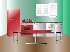 Free Modern Kitchen Interior Stock Image - 19644611