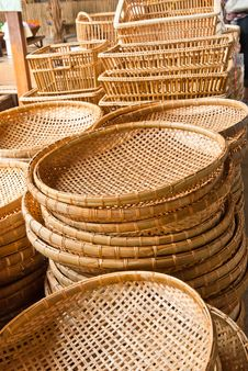 Free Bamboo Basket Royalty Free Stock Photos - 19644618