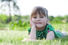 Free Little Adorable Girl  In The Park Stock Image - 19644651
