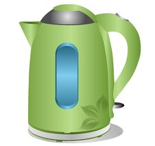 Free Modern Green Kettle Stock Images - 19644654