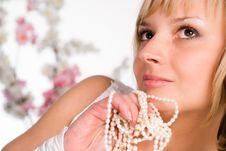 Free Wonderful Girl With Beads Stock Photos - 19644683