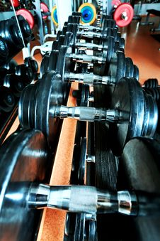 Free Dumbbells Royalty Free Stock Images - 19645049