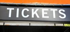 Tickets Sign Stock Photography