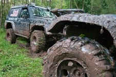 Free Off-road Vehicles After The Race. Stock Photo - 19645270