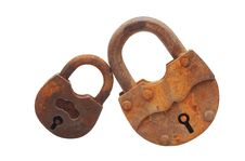 Free Two Padlock Royalty Free Stock Photography - 19645997