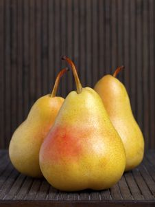Free Trio Of Ripe Pears Royalty Free Stock Photo - 19646105