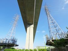 Free Viaduct And Electric Towers Stock Image - 19646611