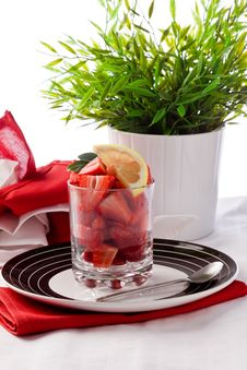 Free Strawberries With Lemon Stock Images - 19646984