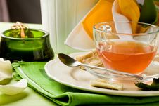 Cup Of Tea On Decorated Table Royalty Free Stock Photography