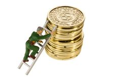 Free Climbing Coins Stock Photography - 19647262