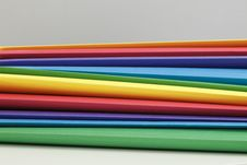 Free Multicolor Pile Of Folders Stock Images - 19647444