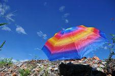 Free Colorful Umbrella Stock Image - 19647481
