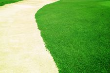 Free Grass Curve Sand Royalty Free Stock Photo - 19647695