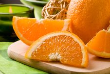 Free Orange Dessert On Cutting Board Stock Photo - 19647720