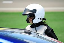 Free Attractive Woman In Motoracer Uniform Royalty Free Stock Image - 19647816