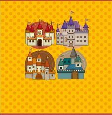 Free Cartoon Castle Card Royalty Free Stock Image - 19648466