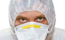 Free Man In Protective Suit Royalty Free Stock Photography - 19649057