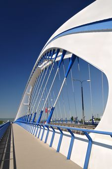Free White Bridge Of A Modern Design Stock Image - 19649271