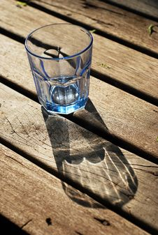 Free Glass Blue Transparent Wood Empty Stock Photography - 19649962