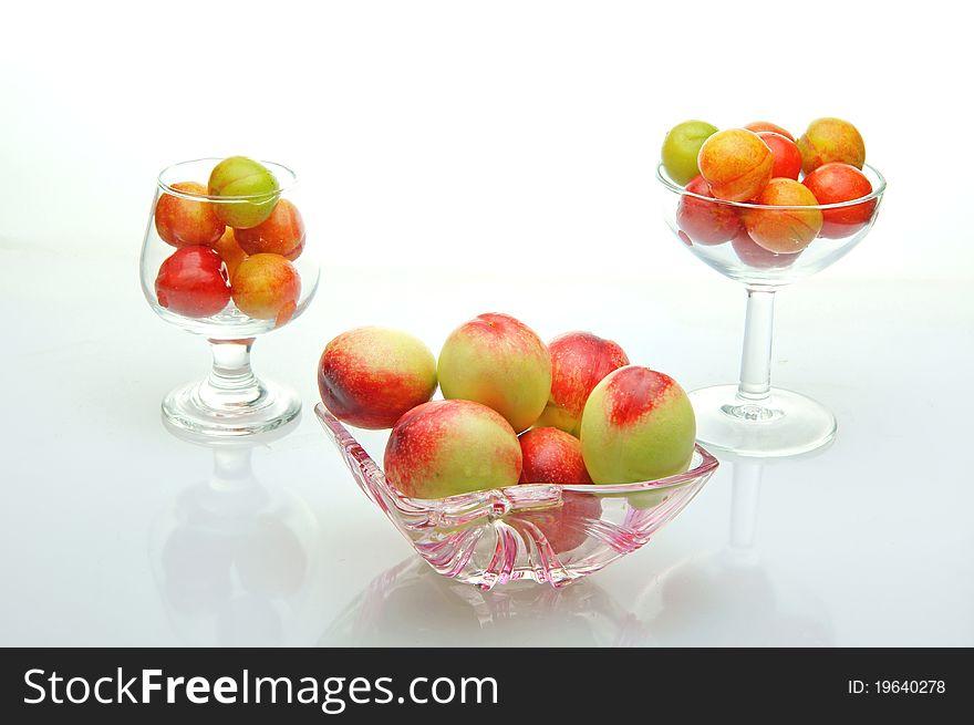 Nectarine and plum