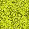 Free Vector Seamless Floral Pattern Royalty Free Stock Photos - 19651038