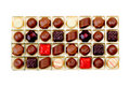 Free Colorful Chocolates In Box Isolated On White Royalty Free Stock Photos - 19653618