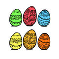 Free Colorful Eggs Royalty Free Stock Photos - 19657208