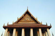 Free Buddhist Temple Gable Stock Image - 19650321