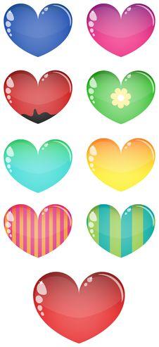 Free Vector Glass Hearts, Isolated Stock Photo - 19650700