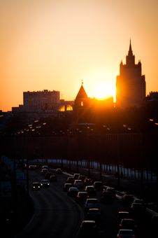 Free Sunset In Moscow City Stock Photo - 19650950