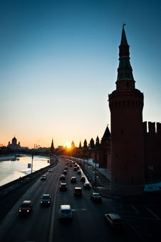 Free Sunset In Moscow City Stock Image - 19650961
