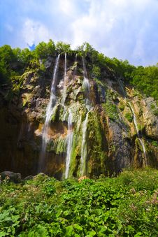 Free Plitvice Waterfall In Croatia Royalty Free Stock Photo - 19651245