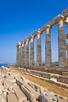 Free Poseidon Temple Near Athens, Greece Royalty Free Stock Images - 19651249