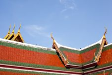 Free Roof Of Temple Thailand. Royalty Free Stock Images - 19651919