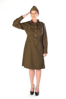 The Girl In The Military Form Stock Photography